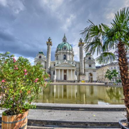 Karlskirche Wien, Nikon D800E, AF-S Zoom-Nikkor 14-24mm f/2.8G ED