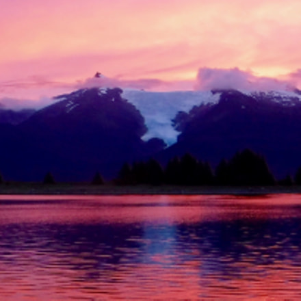 Sumdum Glacier at Sunset, Fujifilm FinePix XP80 XP81 XP85