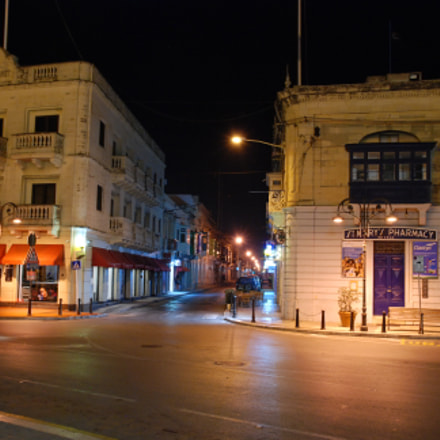 Malta in der Nacht, Nikon D80, Sigma 18-200mm F3.5-6.3 DC OS HSM
