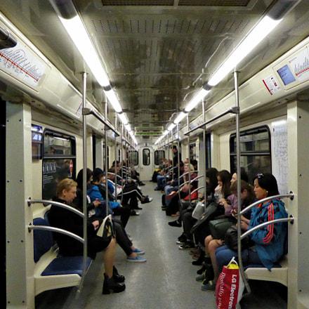 Wagon in Moscow metro, Panasonic DMC-TZ60