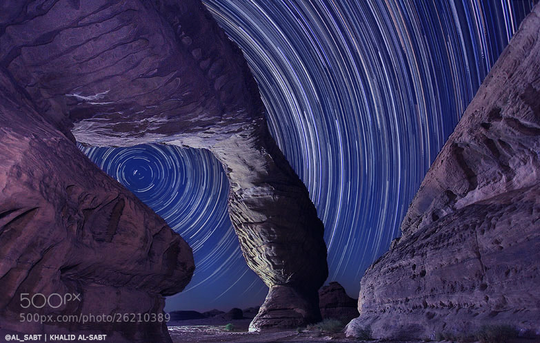 Photograph Star Trails by KHALID ALSABT on 500px