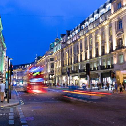 London in blue hour, Canon POWERSHOT G1 X MARK II