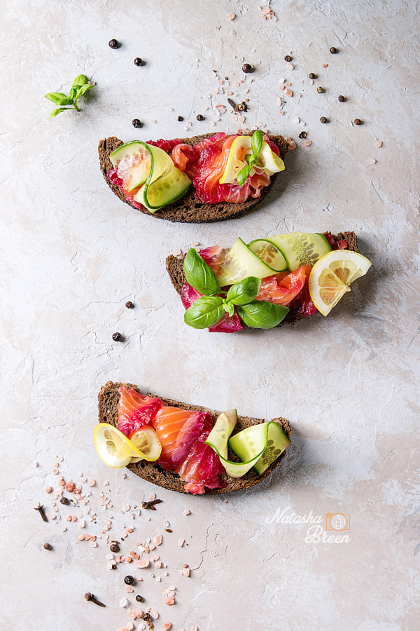 Beetroot marinated salmon sandwiches by Natasha Breen on 500px.com