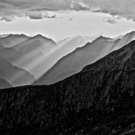 Black and White sunset, Canon POWERSHOT G9