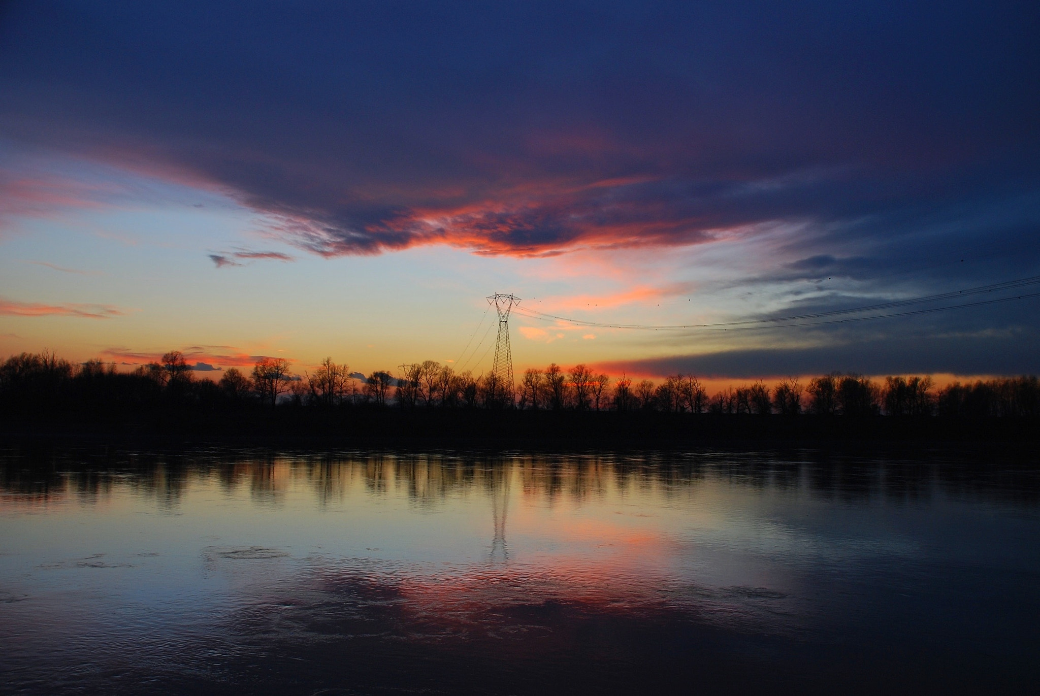 Photograph Sunset on the river Po by luigibertagni on 500px