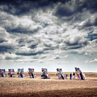 Постер, плакат: Cadillac Ranch