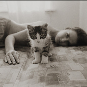 She and her cat by Klem  (Klem)) on 500px.com