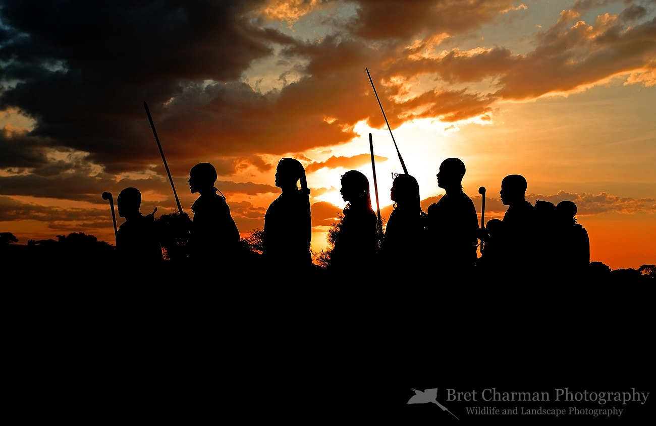 Photograph Maasai Warriors at Sunset by Bret Charman on 500px
