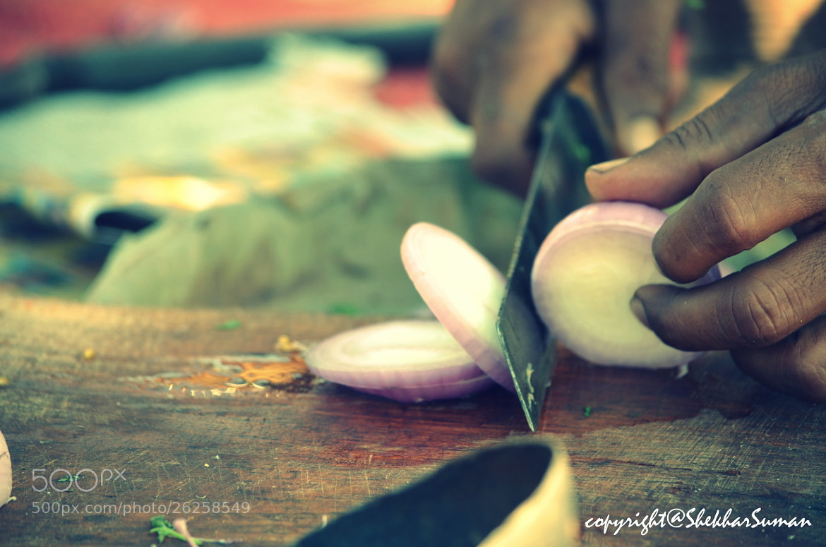 Photograph knife and onion by Shekhar Suman on 500px