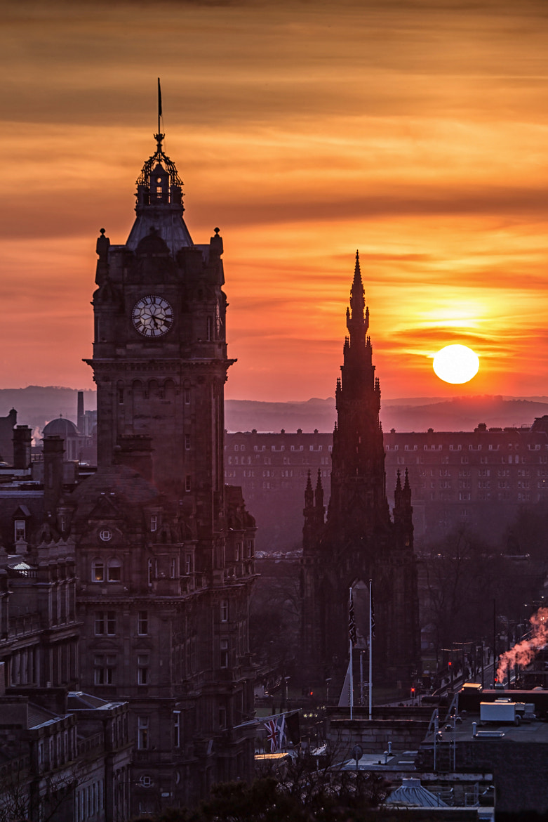 Photograph Edinburgh Sunset by Mike Smith on 500px