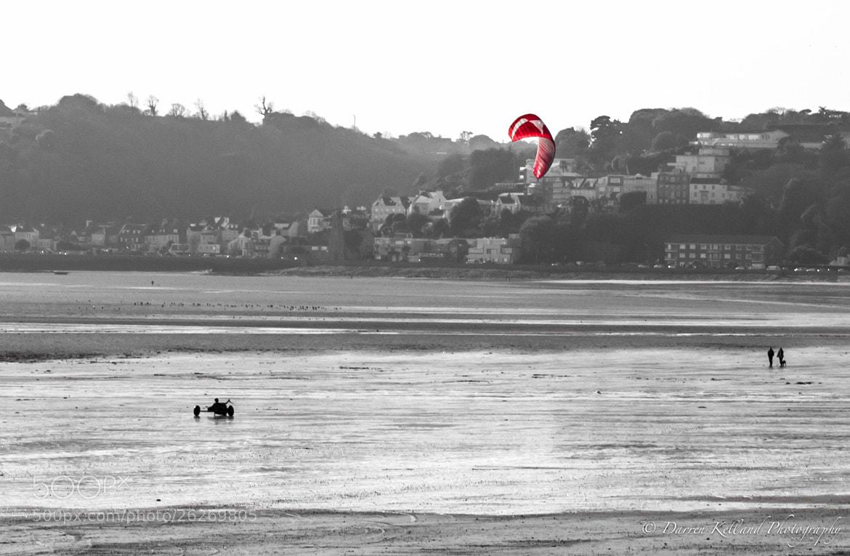 Photograph Kite Surfing at St Aubins Bay by Darren Kelland on 500px