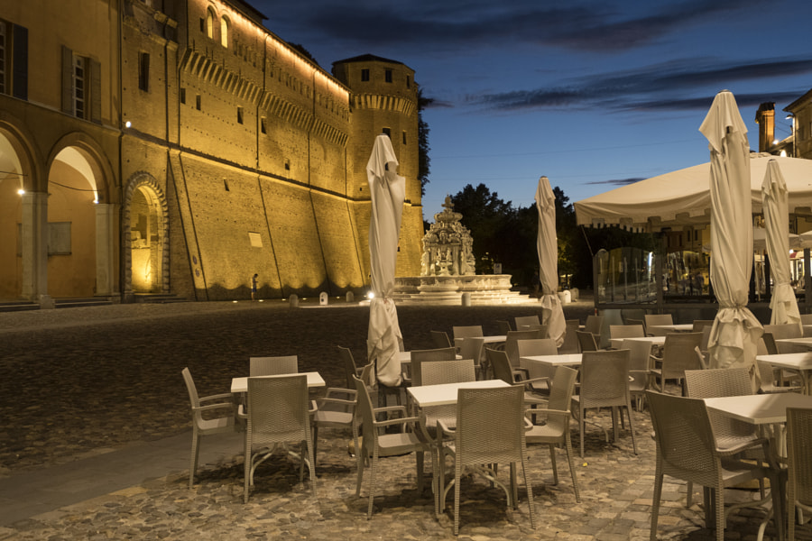 Cesena (Italy): the castle at evening by Claudio G. Colombo on 500px.com