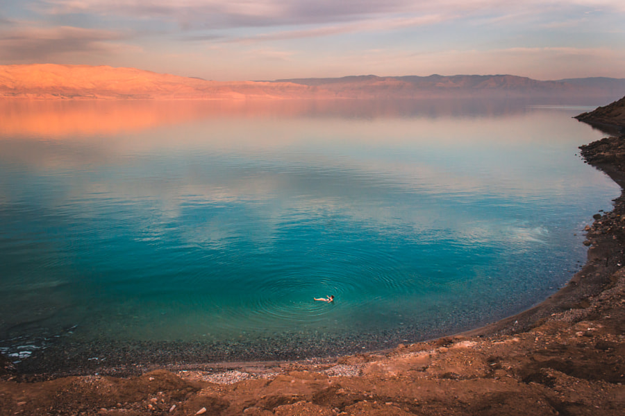 Floating in the Dead Sea by Aline Fortuna on 500px.com