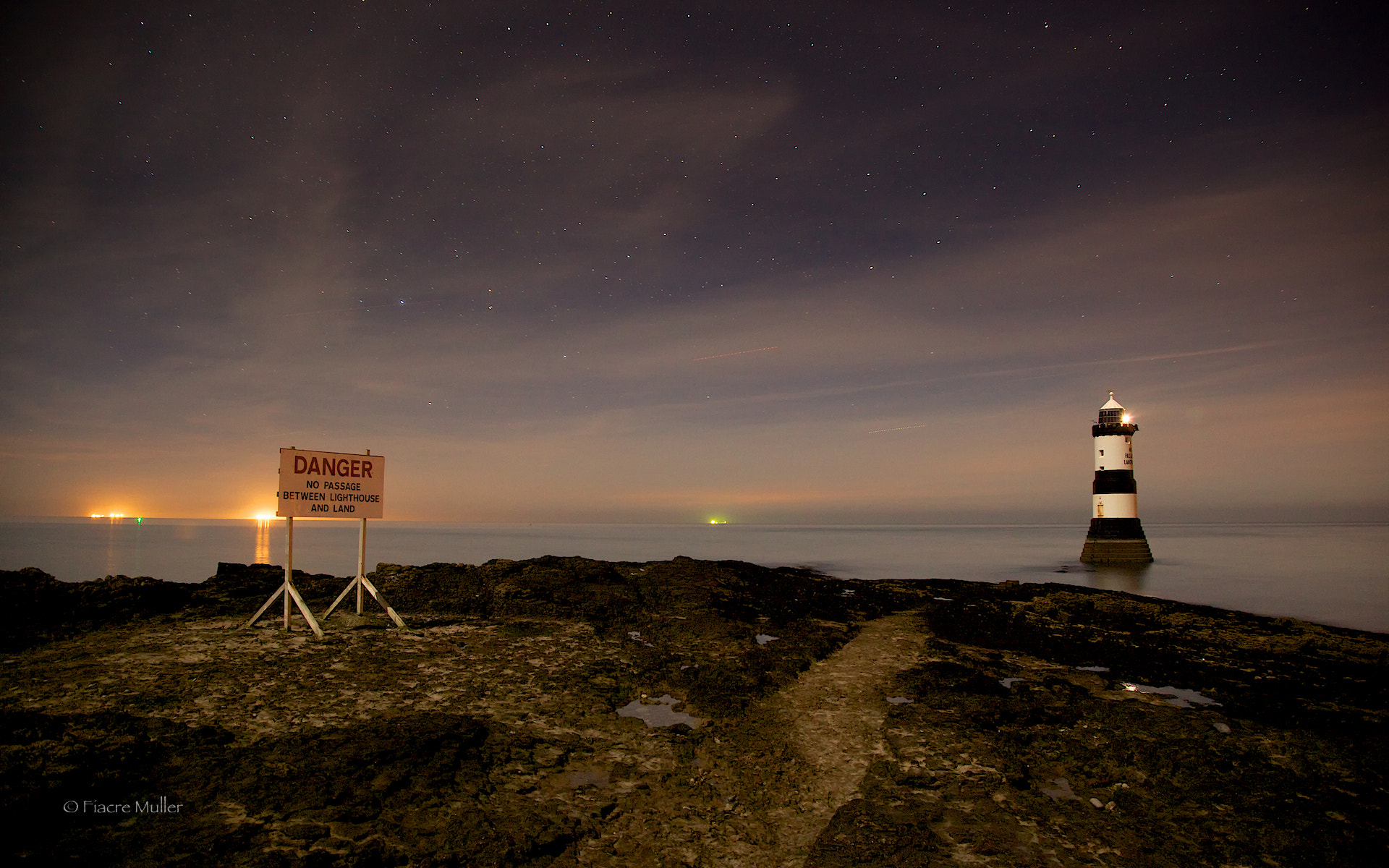 Photograph Penmon Lighthouse Nocturne  by Fiacre Müller on 500px