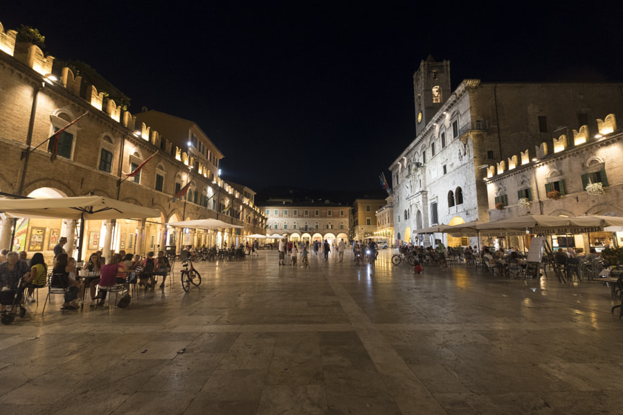 Ascoli Piceno (Marches, Italy), Piazza del Popolo by night by Claudio G. Colombo on 500px.com