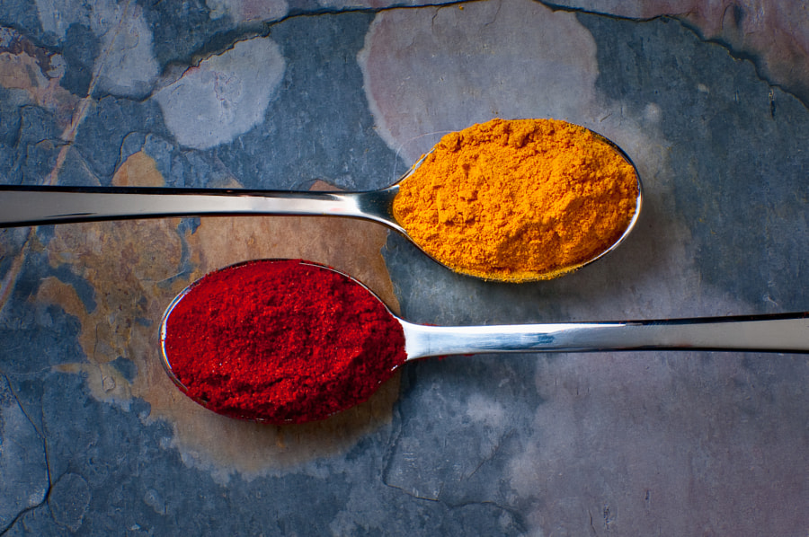 Tumeric and Paprika by Shawn Rundblade on 500px.com