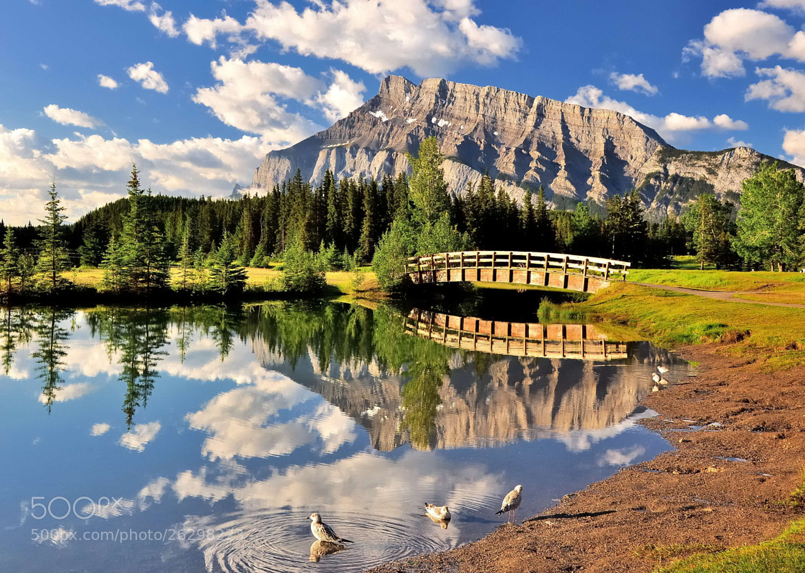 Photograph Rundle Mountain - Banff 2 by Shuchun D on 500px