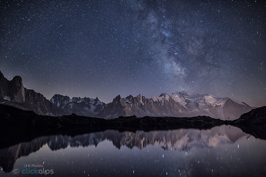 Photograph Milky Way on Mont Blanc by Roberto Sysa Moiola on 500px