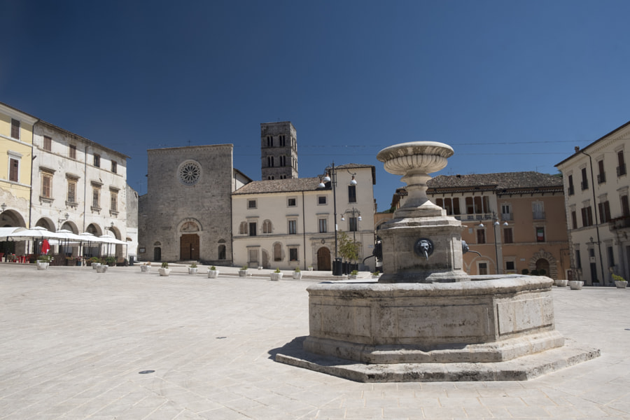 Cittaducale (Rieti, Italy): the main square by Claudio G. Colombo on 500px.com