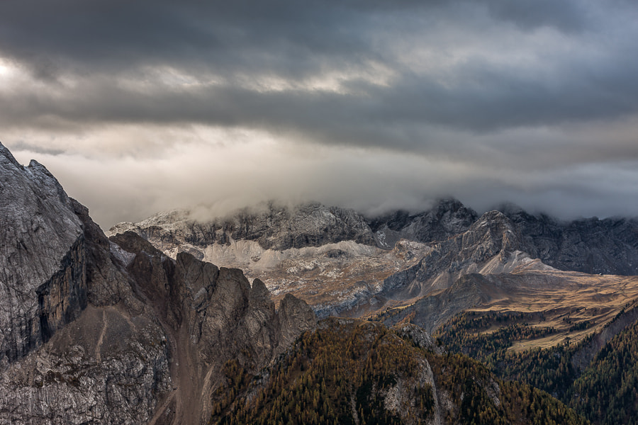 """<a href=""""http://www.hanskrusephotography.com/Workshops/Dolomites-October-7-11-2013/24503434_Pqw9qb#!i=2371316168&k=NNkWLGL&lb=1&s=A"""">See a larger version here</a>  This photo was taken during a photo workshop that I was leading in the Dolomites October 2012."""