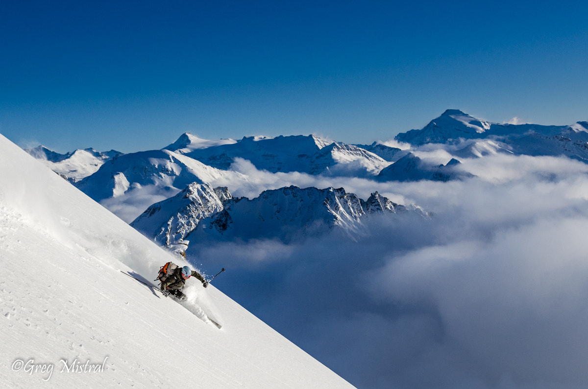 Photograph Skier sur les nuages by Grégory Mistral on 500px