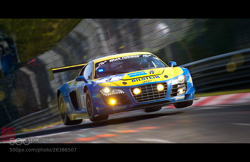 Photograph Springen durch Technik - Audi R8 LMS ultra - Audi Sport Team Phoenix-Racing, No 3 by Shurazero Hide Ishiura /  StudioZero.de on 500px