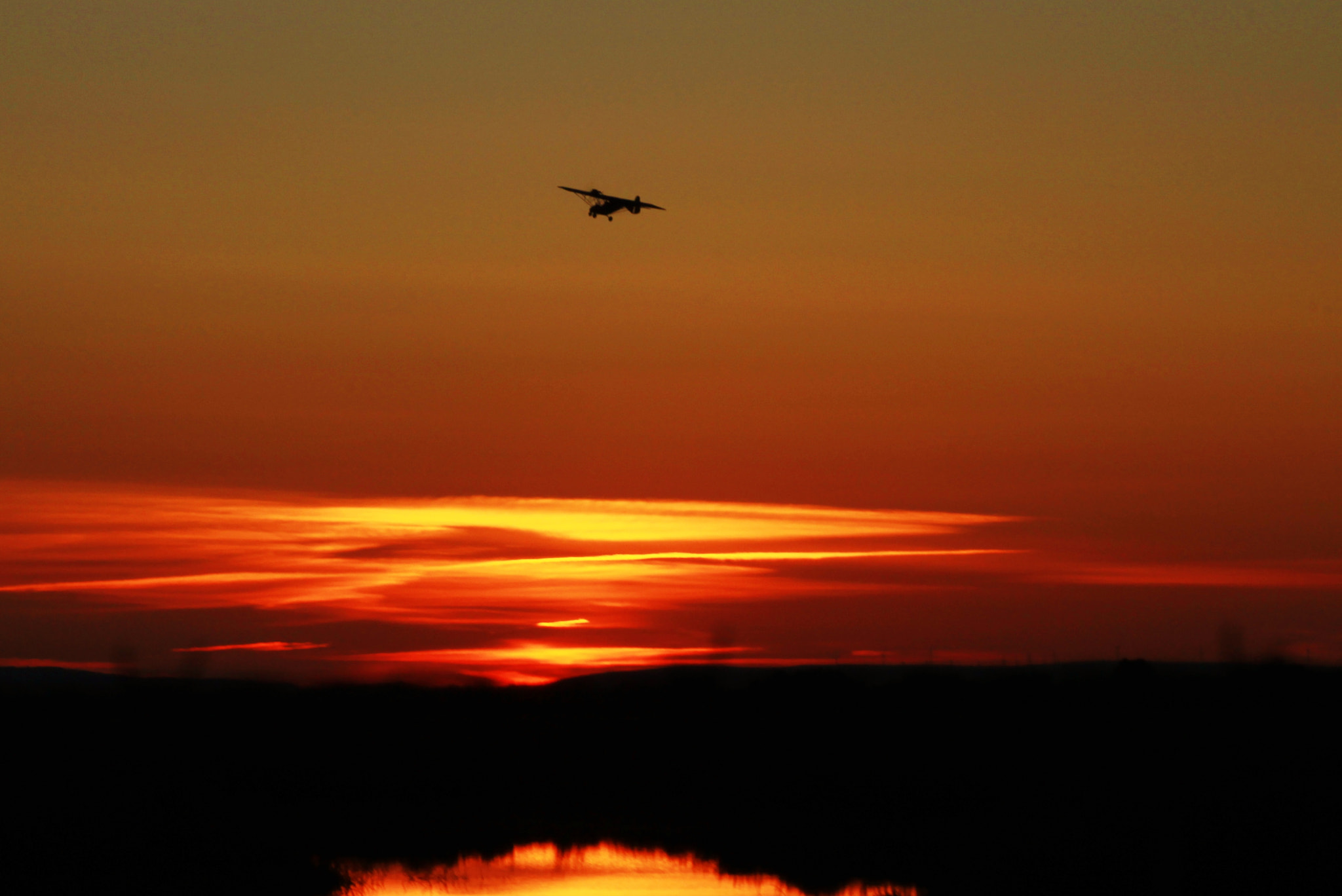Photograph flying in a sunset by richard cauchy on 500px