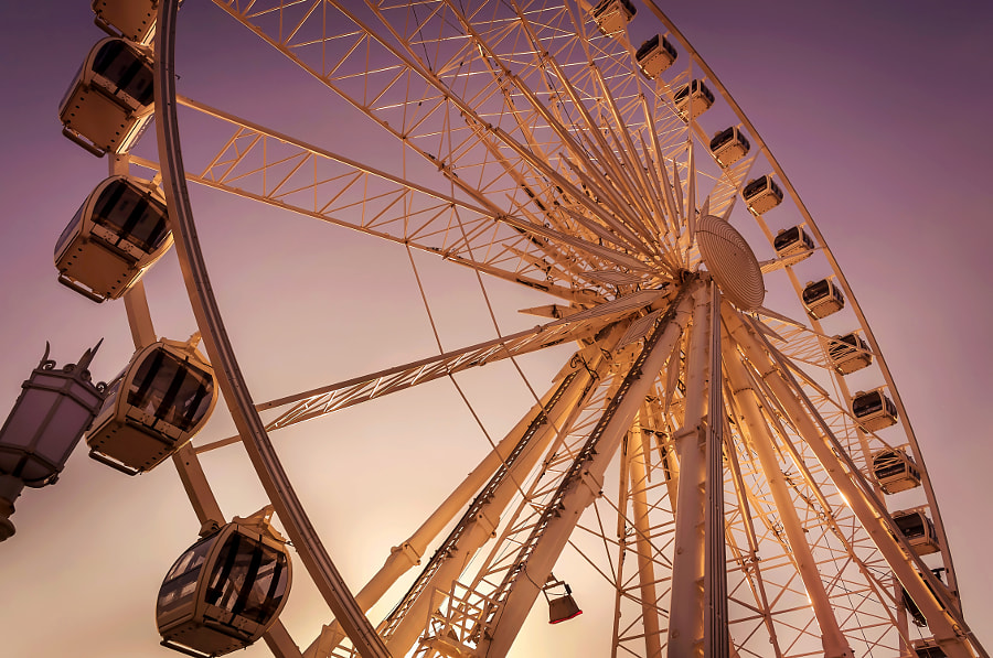 Sunset on the wheel by Digital Craft Factory on 500px.com