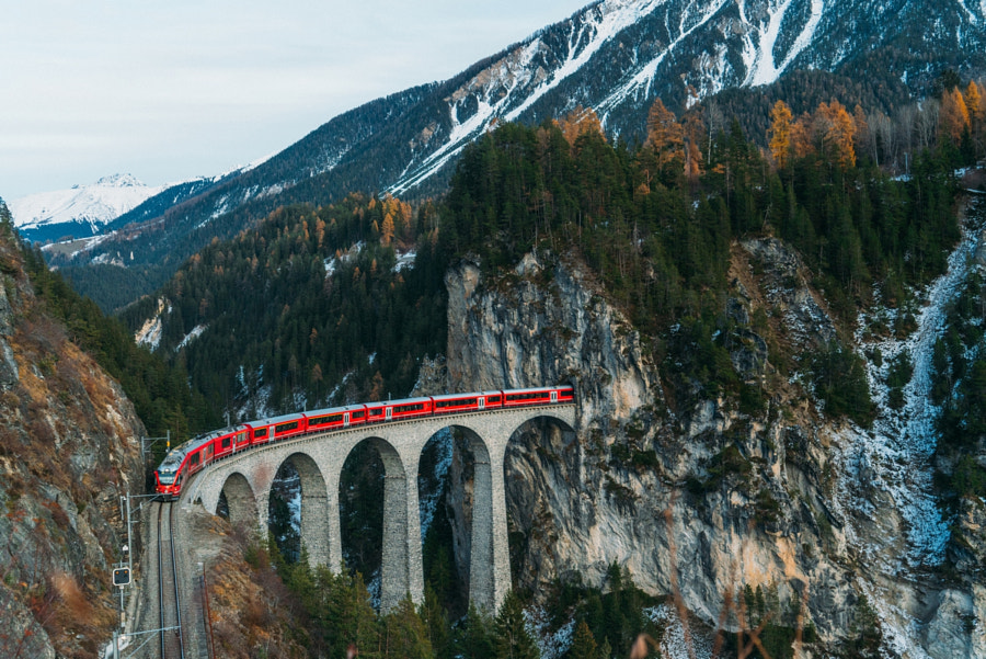 Train in Switzerland by Oleh Slobodeniuk on 500px.com