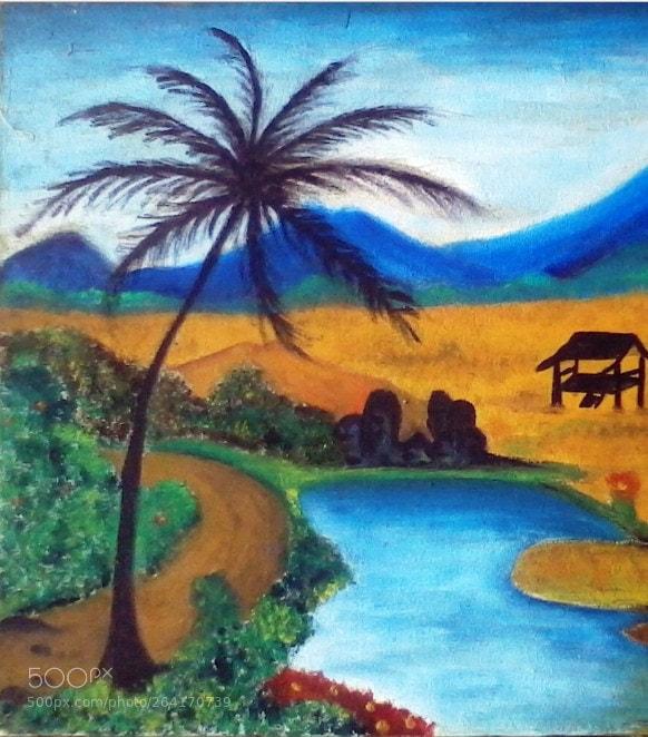 Lukisan Pemandangan Yang Mudah Ditiru