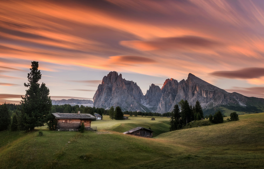 Sunrise at Alpe di Siusi by Aleš Krivec on 500px.com