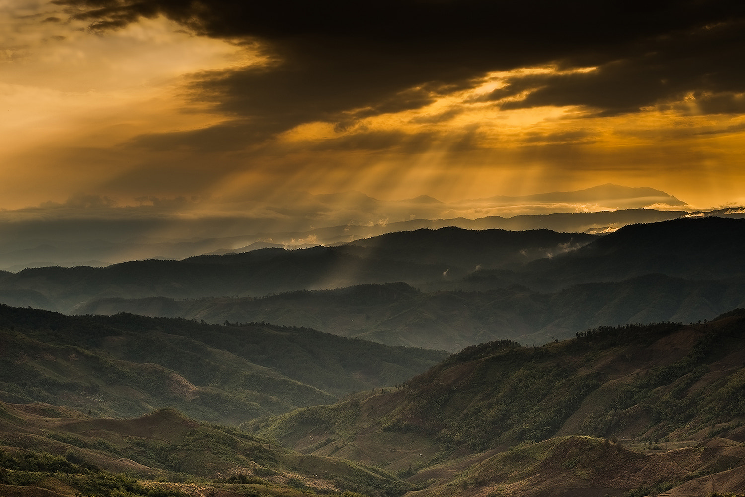Photograph Doi Chang with Ray of Light by Vorravut Thanareukchai on 500px