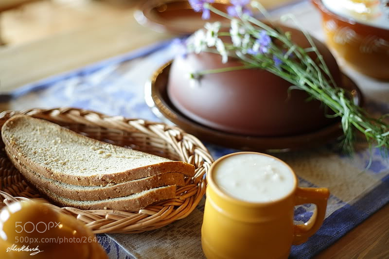 food, milk, bread