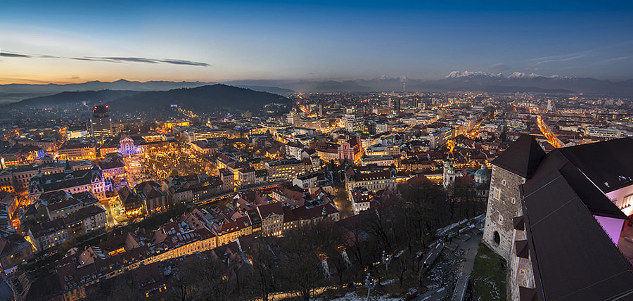 Ljubljana sunset by Andraž Martinšek on 500px.com