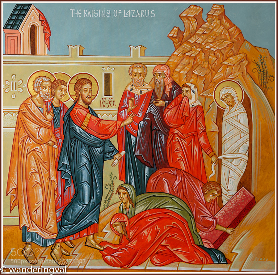 Miracle of Christ series, mural 6'x6' by Fr. Theodore Koufos and Valentin Streltsov.