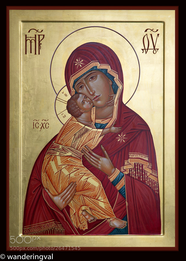 Icon on the traditional wooden board, 24''x40'' by iconographer Valentin Streltsov.