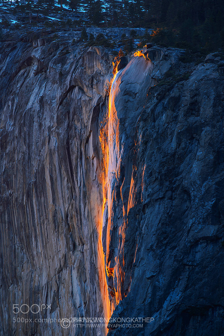 Photograph Horsetail Firefall by Pete Wongkongkathep on 500px