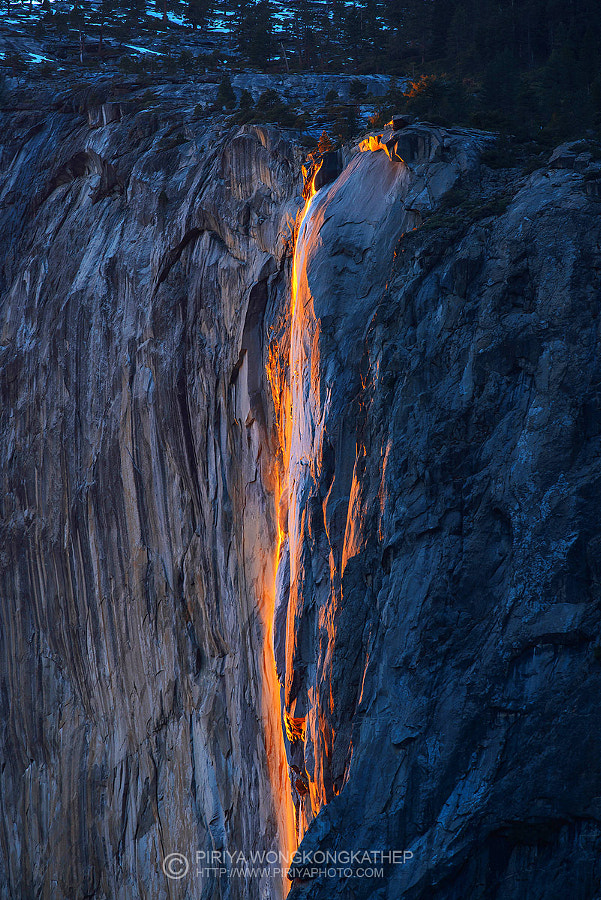 Horsetail Firefall by Pete Wongkongkathep on 500px.com