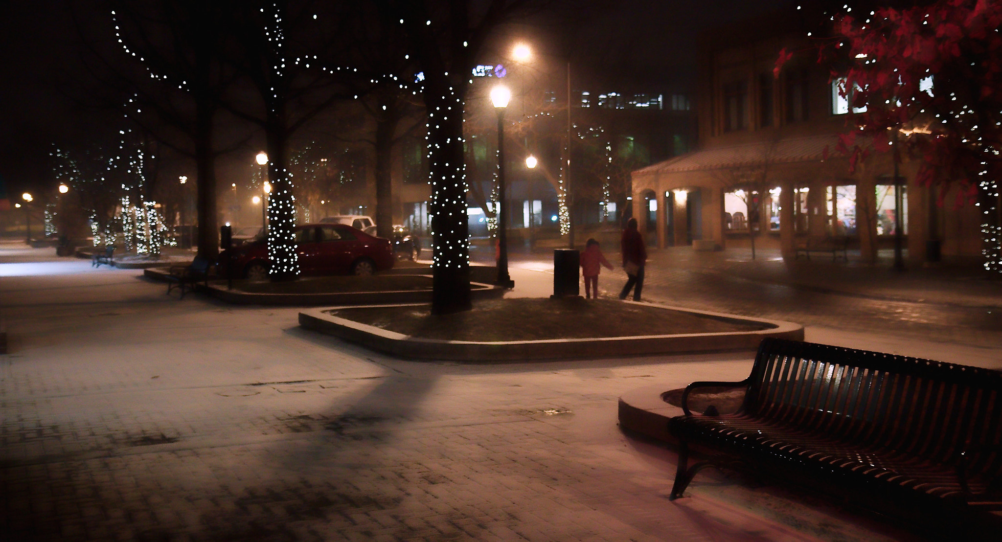Photograph snowy evening in town by Johnny Gomez on 500px