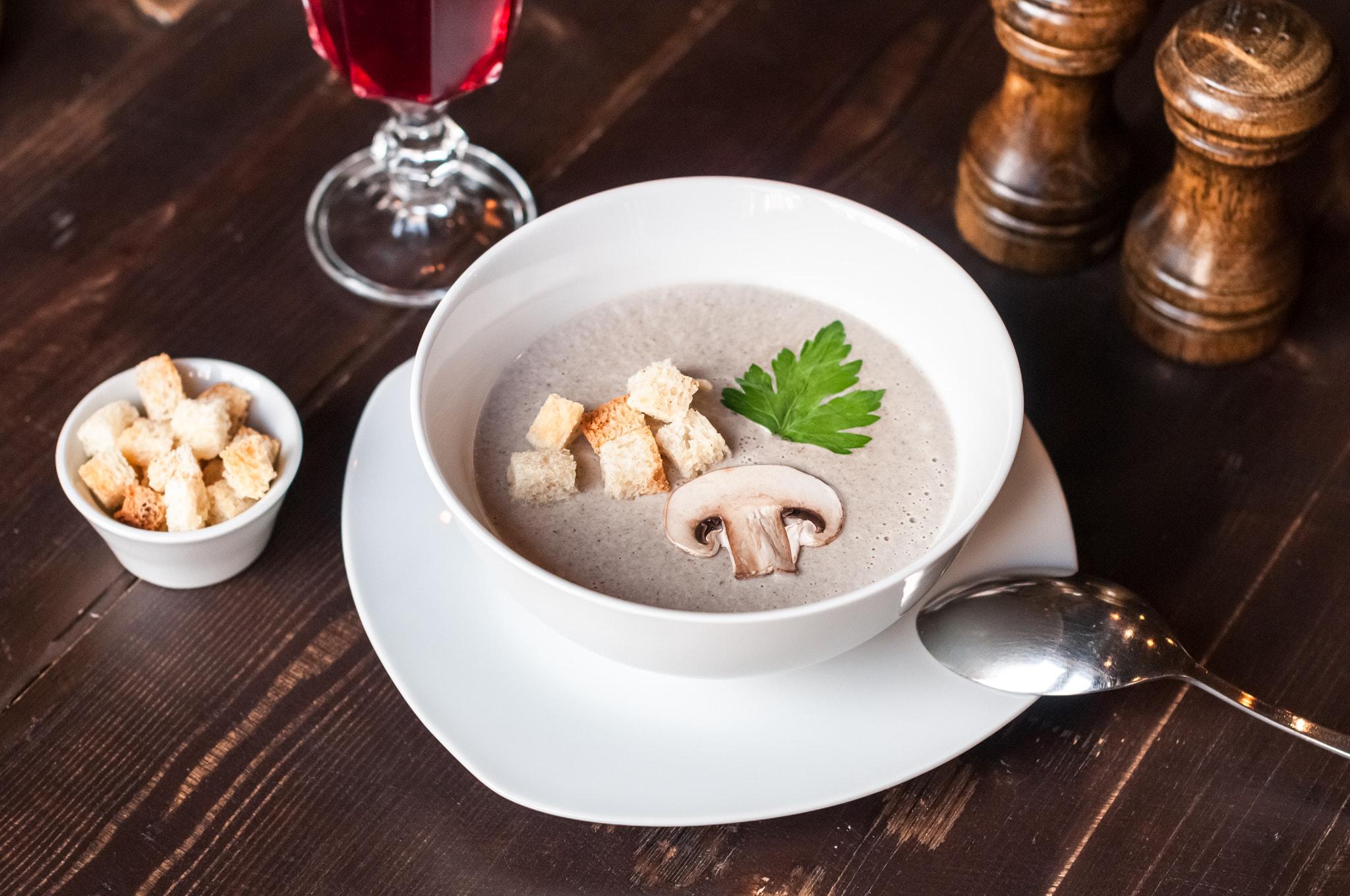Cream of mushroom soup / Крем суп из шампиньонов