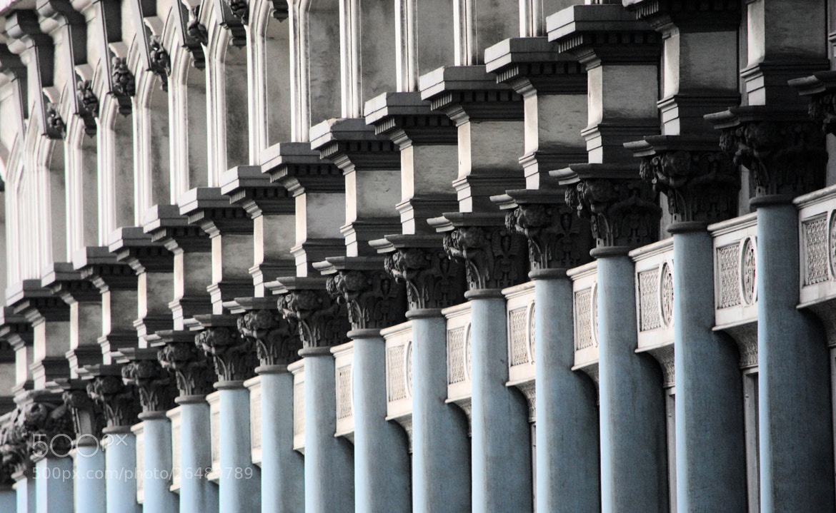 Photograph Blue columns by Sue 6 on 500px