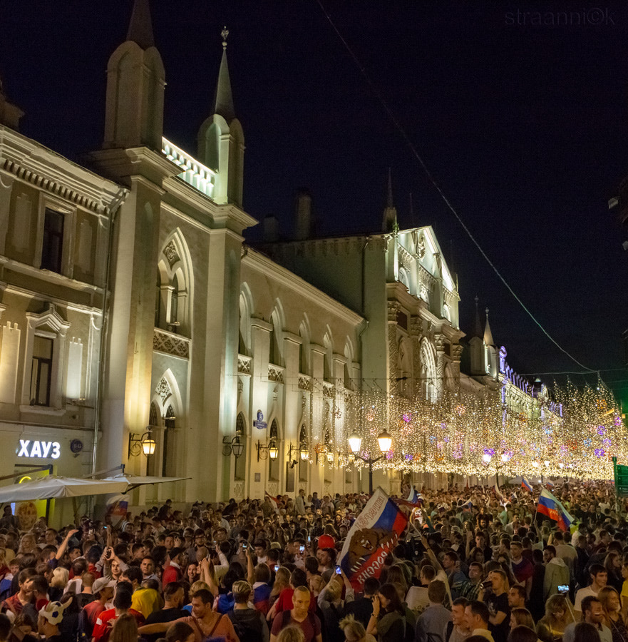 2018 FIFA World Cup Russia. Football fans of different countries celebrate the victory of the... by Oleg Ivanov on 500px.com