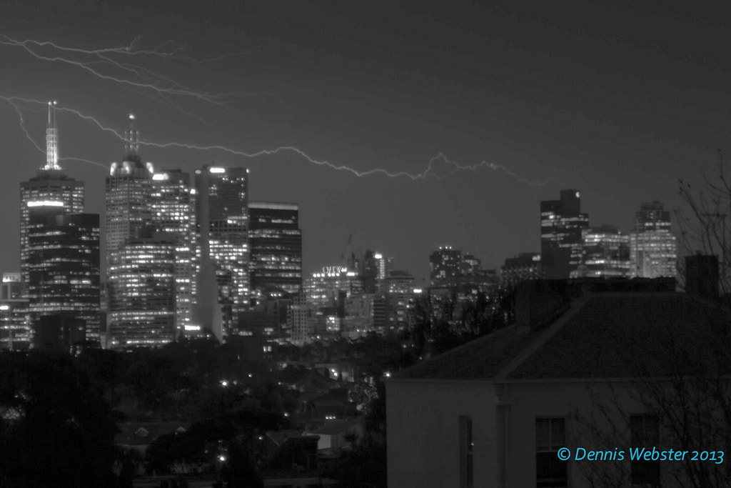 Photograph Melbourne storm monochrome  by Dennis Webster on 500px