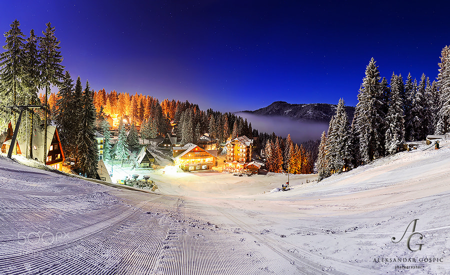 The night of the full moon in Babanovac on Vlašić mountain and pleasant -12°C