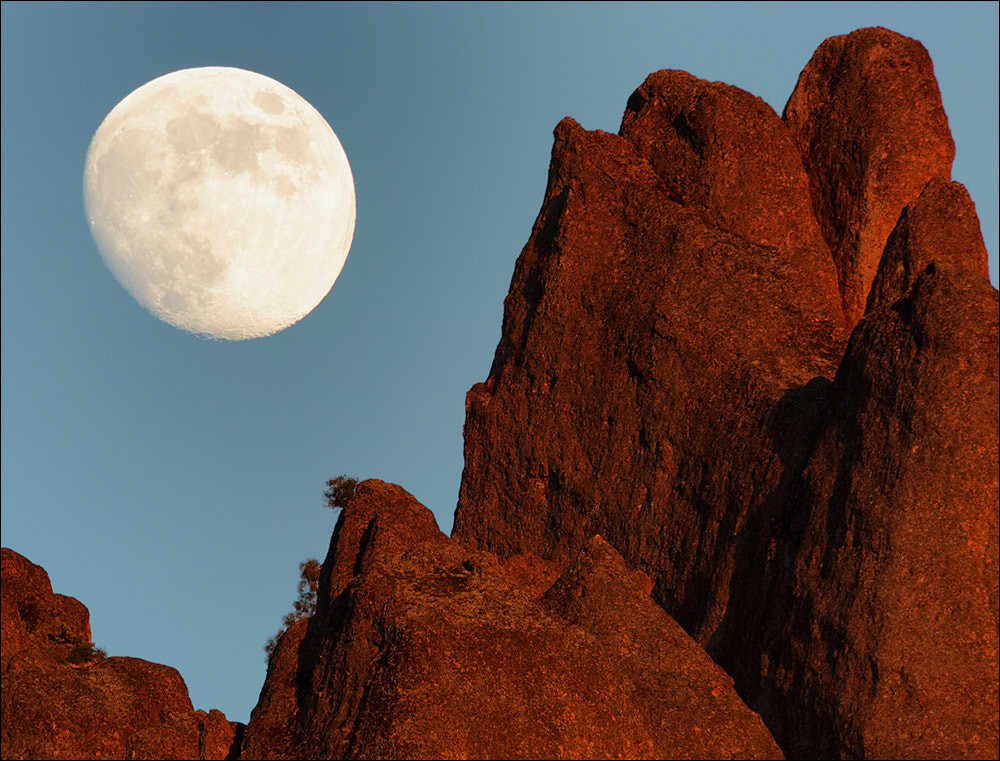 Photograph Moonrise Over Pinnacles High Peaks by Don Smith on 500px