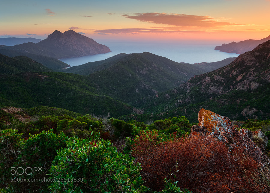 Photograph Girolata Dusk by Michael  Breitung on 500px