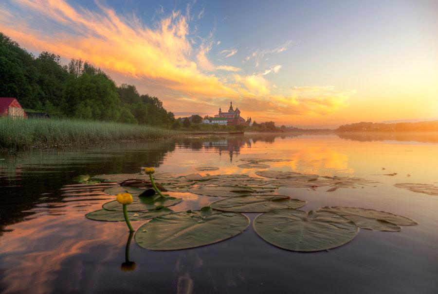 рассветные кувшинки Старой Ладоги..., автор — Ed Gordeev на 500px.com