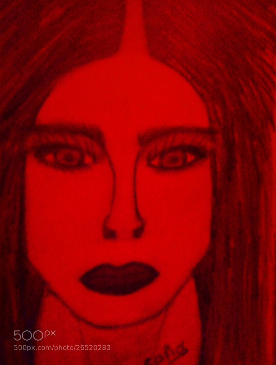 Photograph Red Sketch Portrait by IRENE ZISI on 500px
