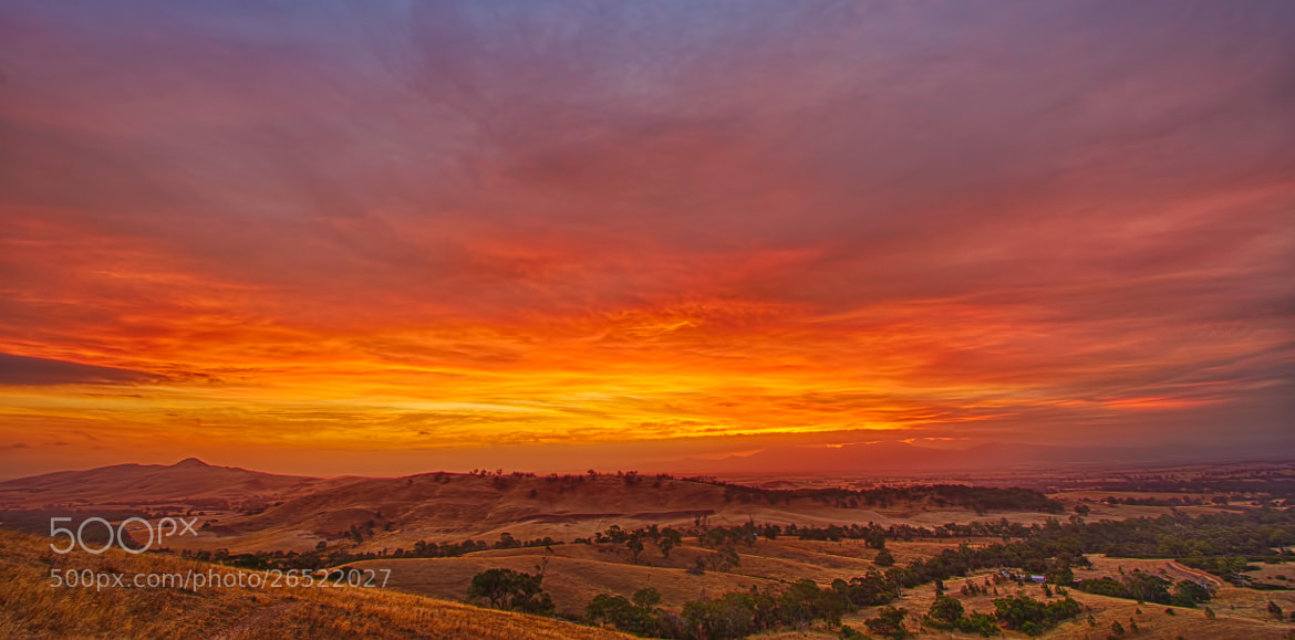 Photograph Grampians Fire Sunset by Pieter Pretorius on 500px