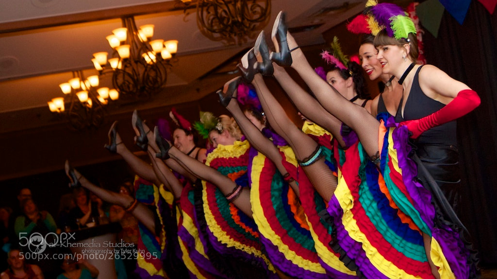 Photograph 2013 Rendezvous Can-can dancers by Tyler Kuhn on 500px